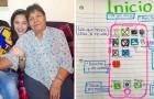 La grand-mère et la petite-fille sont loin l'une de l'autre : le jeune femme crée un guide illustré pour lui expliquer comment passer des appels vidéo