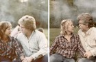 15 nostalgische mensen die oude foto's wilden namaken om hun verleden te vieren