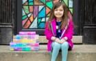 Mit 7 Jahren macht sie bunte Armbänder und sammelt 20.000 Dollar, um einem Krankenhaus Handschuhe und Masken zu kaufen