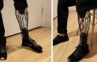 Cette prothèse imprimée en 3D est moins chère et plus légère que les prothèses traditionnelles : elle ressemble à une vraie jambe