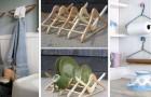 10 idées toutes plus belles les unes que les autres pour recycler les cintres et les transformer en objets utiles