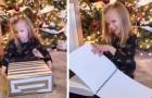 Una bimba non vedente si emoziona quando riceve per Natale i libri di Harry Potter in Braille