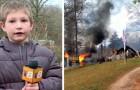 En modig 7-årig kille klättrar tillbaka in i sitt brinnande hus för att rädda sin lillasyster på bara några månader