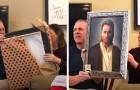 Un garçon offre aux parents dévots un portrait de Jésus : il s'agit en fait d'Obi-Wan Kenobi de
