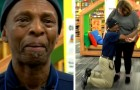 A janitor falls to his knees with emotion: colleagues have raised $7,000 to buy him a car