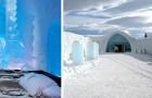 Dit hotel is volledig uit ijs gebouwd: het betoverende interieur lijkt zo uit een sprookje te komen