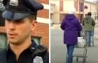 Duas mães pobres foram descobertas enquanto roubavam comida em um supermercado: o policial pagou as compras para elas