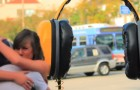 They find this big headphones on the street: What they do is simply PRICELESS.