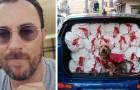 Een manager geeft slaapzakken aan de daklozen van de stad en warme jasjes aan hun trouwe viervoeters