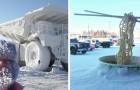 15 foto mostrano quanto possa essere difficile ma affascinante affrontare l'inverno con gelide temperature