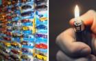 Een vrouw steekt de verzameling speelgoedauto's van haar man in brand omdat ze het als geldverspilling beschouwt