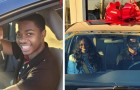 A high school student travels 7 miles a day to go to work: a total stranger gives him a car