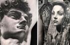 I tatuaggi di questo artista sono così realistici che sembrano delle foto dal gusto classico e vintage
