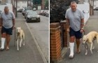 Ein Mann mit eingegipstem Bein lässt seinen hinkenden Hund untersuchen, findet aber heraus, dass er ihn imitiert hatte