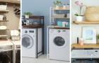 8 idées géniales pour aménager un coin blanchisserie en utilisant des meubles à placer au-dessus de la machine à laver
