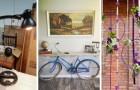 10 progetti insoliti e accattivanti per arredare riciclando le biciclette