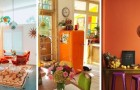10 ottimi spunti d'arredo per decorare la casa con tocchi di colore arancione