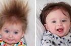 17 Kinder, die mit wenigen Monaten so lange Haare haben, dass sie eine Perücke zu tragen scheinen