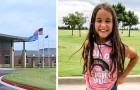 Dieses 8-jährige Mädchen wurde von der Schule verwiesen, weil sie in eine ihrer Klassenkameradinnen
