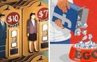 18 illustraties die hun stempel drukken, ideaal om na te denken over de problemen en tegenstellingen van onze samenleving