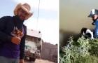 """Ein Müllmann rettet einen Hund, der zu ertrinken droht: Das Tier """"umarmt ihn"""" zum Dank"""