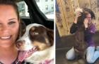 La sua cagnolina scompare per 3 settimane: quando la ritrova non riesce a trattenere le lacrime per la felicità