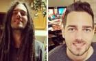 16 Männer schneiden sich die langen Haare ab und zeigen stolz ihre Verwandlung