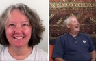 At 60 she undergoes a drastic change of look and even her husband struggles to recognize her at first