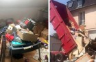 The tenants move out and leave the house full of garbage: the owner dumps it in front of their new home