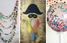 11 décorations DIY super colorées, parfaites pour créer une atmosphère parfaite pour le Carnaval
