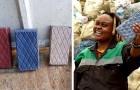 Den här kvinnan har skapat en startup som gör plastavfall till tegelstenar som är starkare än betong