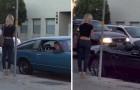 2 hommes avec une voiture différente approche une fille : Voilà la réaction