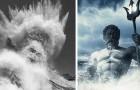 Un fotografo riesce a immortalare una spettacolare onda in cui sembra comparire il volto del dio Nettuno