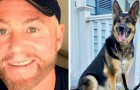 Suddenly struck down by a stroke, he is saved by the German shepherd which he adopted only a few months earlier