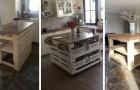 10 idées pour réaliser de très beaux îlots de cuisine avec les palettes
