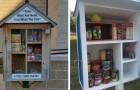 Trasforma le librerie in piccole dispense di cibo per aiutare le persone più bisognose con un'azione concreta