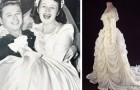 Ze maakt haar trouwjurk met de stof van de parachute die haar man in de oorlog gebruikte om zichzelf te redden