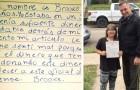 Bimba di 9 anni scrive un'emozionante lettera per ringraziare la polizia di tutto ciò che fa per aiutare gli altri