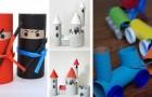 11 adorabili lavoretti da fare con i bambini riciclando i tubi di cartone della carta igienica