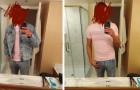 El marido le manda una selfie desde el hotel, pero no se da cuenta del reflejo en el espejo: ella descubre ser traicionada