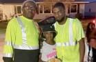 Ett par sophämtare stannar en misstänkt bil och räddar av en händelse en 10-årig flicka som kidnappats av en främling