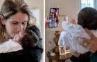 A teacher takes care of the newborn brother of one of her pupils: at the boy's home, they all have Covid