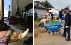 La maison d'une femme âgée tombait en ruine et était pleine de détritus : 50 bénévoles la remettent en état