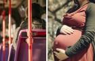 Een man weigert zijn zitplaats in de bus aan een zwangere vrouw af te staan en deelt op internet het waarom