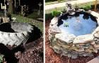 Elle construit un plan d'eau dans son jardin avec un pneu de tracteur : l'idée pas chère mais géniale