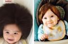 16 kinderen met zulk dik haar dat ze bij hun geboorte een pruik leken te dragen