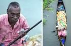 Chaque jour cet homme paralysé nettoie le plastique des rivières : une photo lui a changé la vie