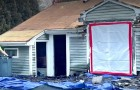 Alleenstaande moeder van drie heeft het geld niet om het dak van haar huis te maken: onbekenden repareren het gratis voor haar