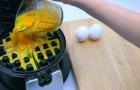 Giet ei in je wafelijzer: het resultaat doet je watertanden!