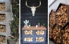 Rangez les piles de bois de chauffage de façon unique avec ces fantastiques projets DIY